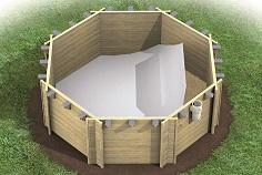 Holzpool sets aus massivholz zum selbstbau for Aufstellpool verkleiden