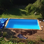 Holzpool Odyssea rechteckig 6x3 blau