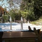 Holzpool Tropic 414 mit Stangenabdeckung und Leiterausschnitt