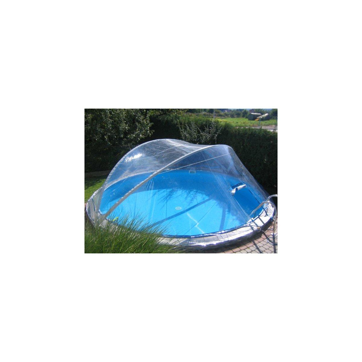 SCHWIMMBAD Pool Überdachung CABRIO DOM Rundbecken Ø 5,5 m