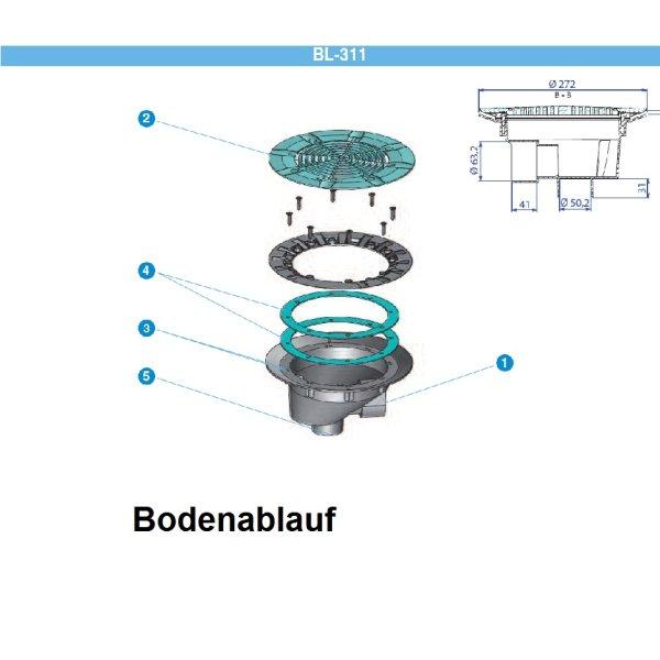 bodenablauf premium neuheit farbe w hlbar 44 50. Black Bedroom Furniture Sets. Home Design Ideas
