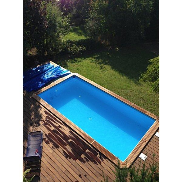 Holzpool odyssea for Rechteck pool zum aufstellen