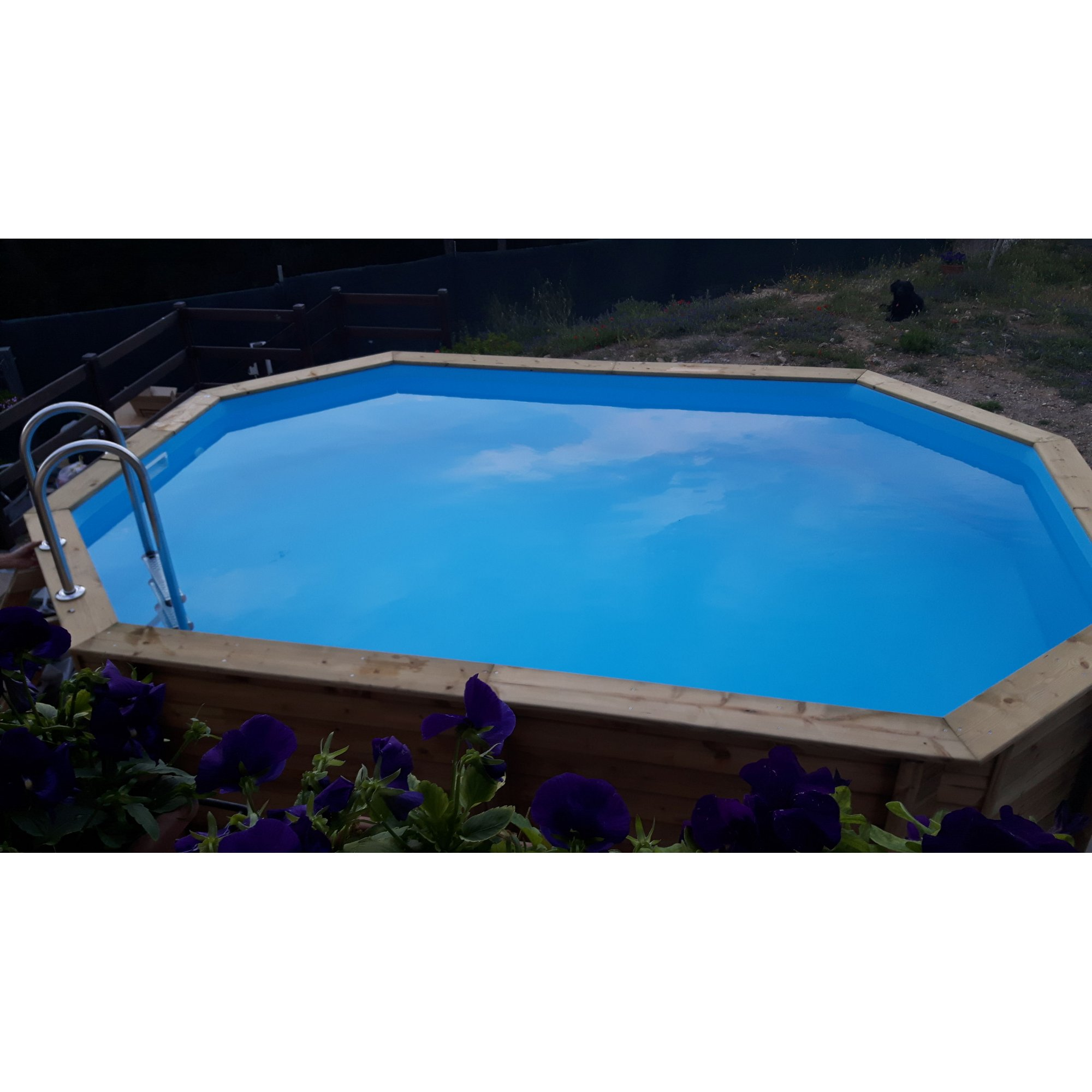 Holzpool tropic aufstellbecken octo 510 for Piscine tropic octo 414